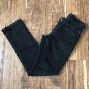Levi Strauss Black Jeans Size 2M Mid Rise Skinny
